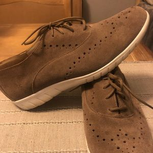 Munro Lace Up Almond Suede Oxford Shoes